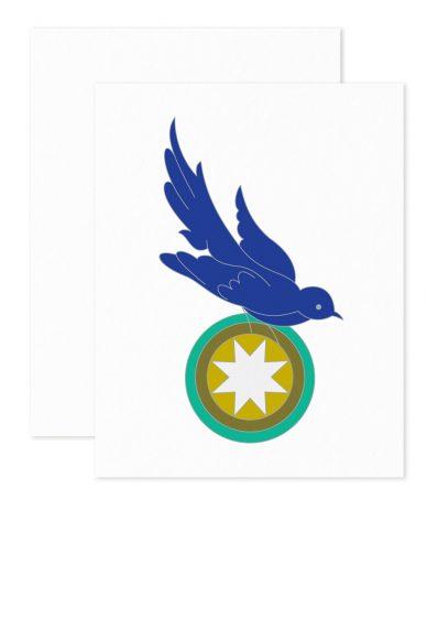 quilt bird card