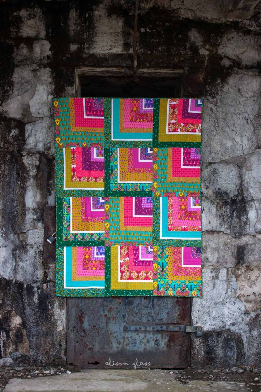 bungalow in road trip quilt kit