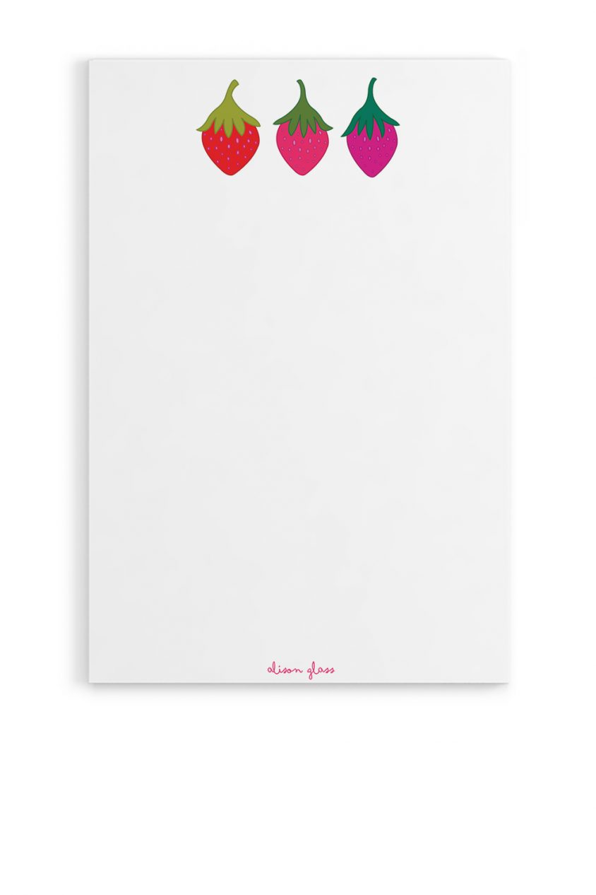 strawberry notepad