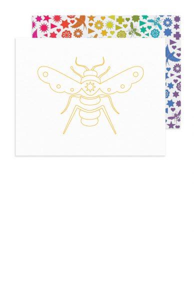 linework bee card