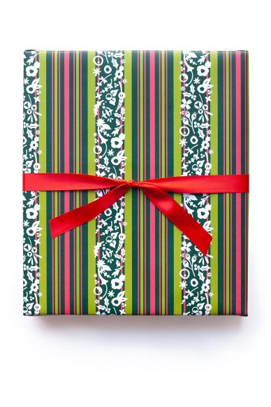 stripe gift wrap