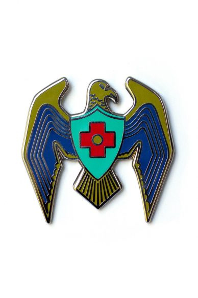 blue eagle enamel pin
