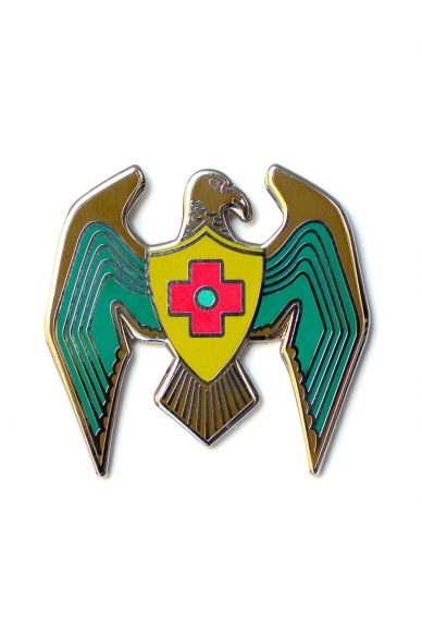 jade eagle enamel pin