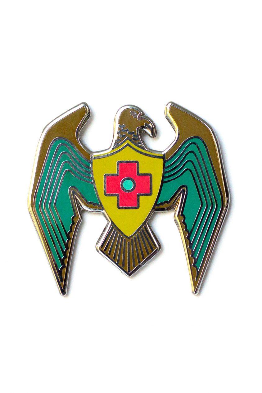 jade eagle enamel pin