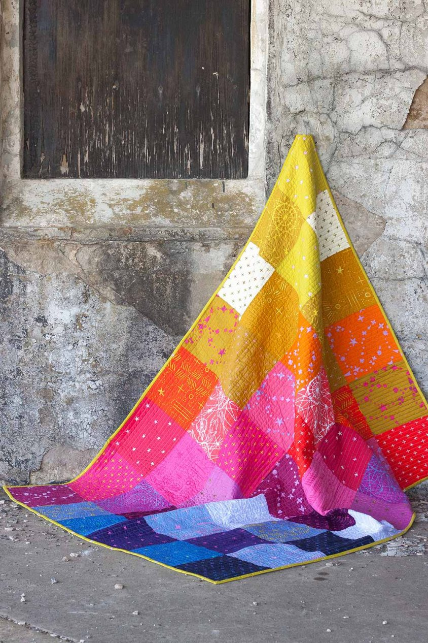 patchwork throw in observatory
