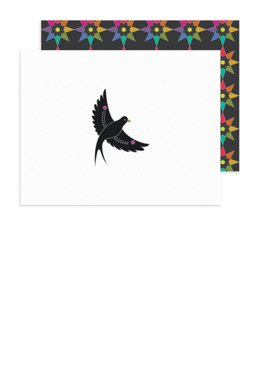 black bird card