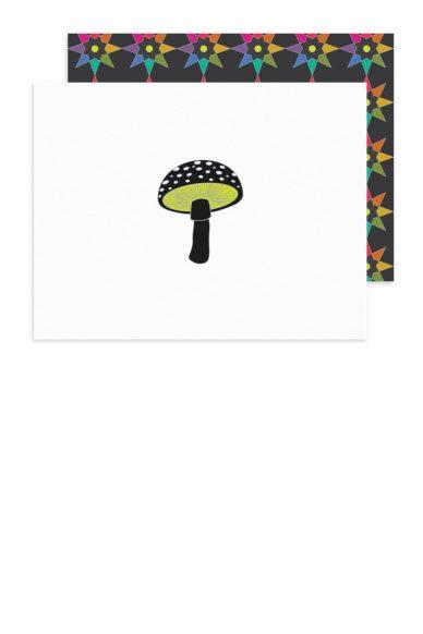 black mushroom card