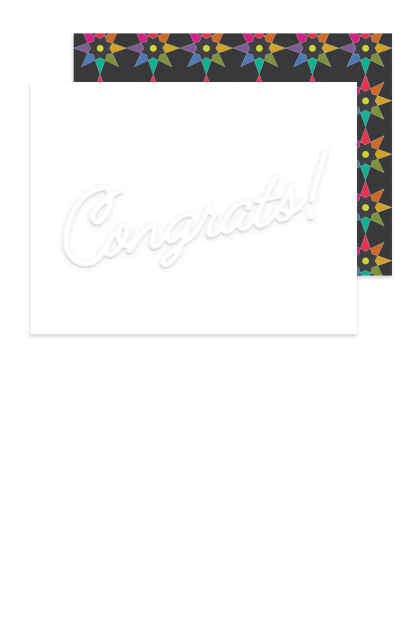 embossed congrats card