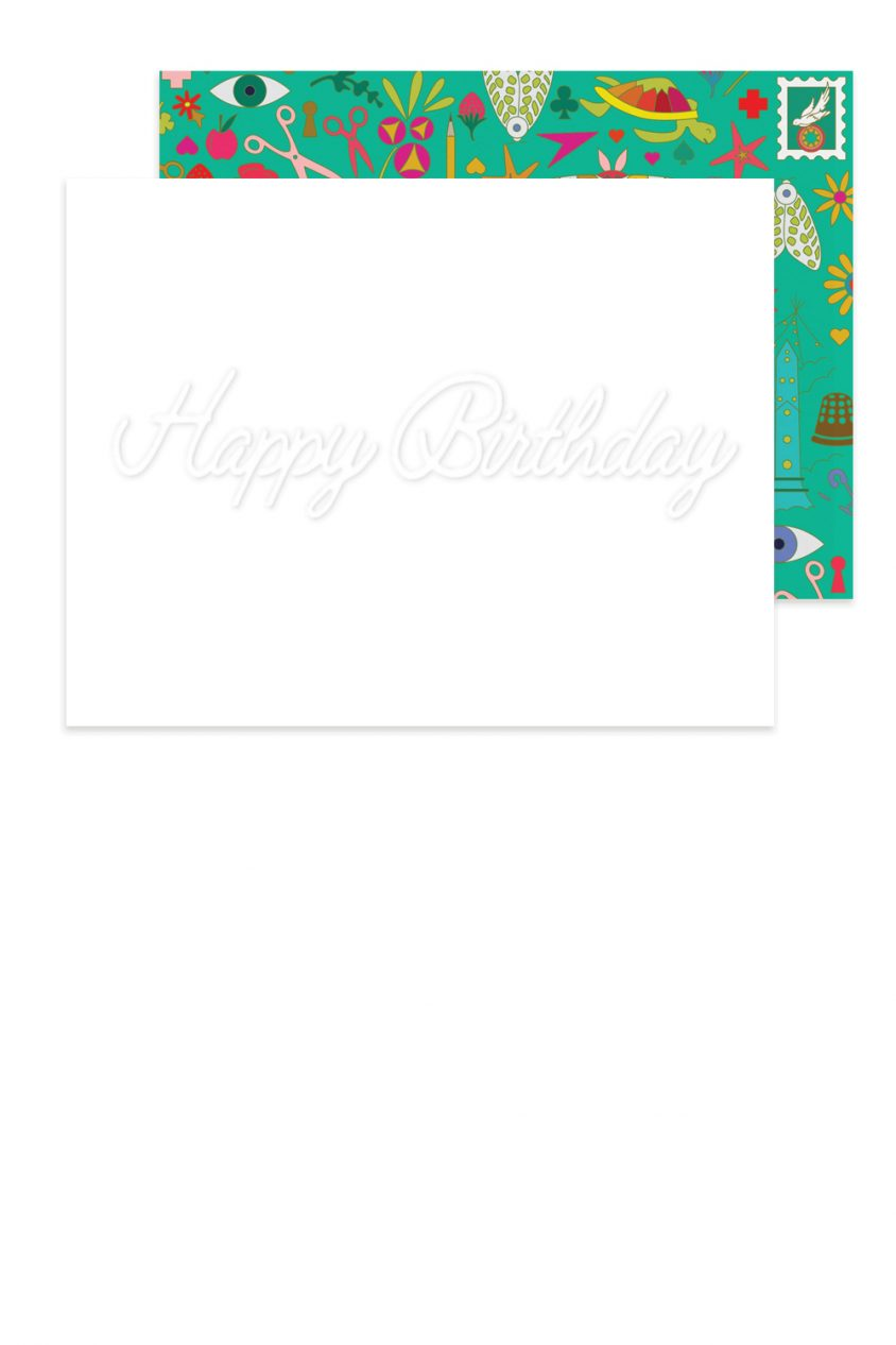 embossed happy birthday card