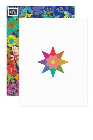 rainbow star card