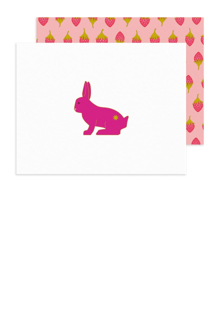 purple rabbit card