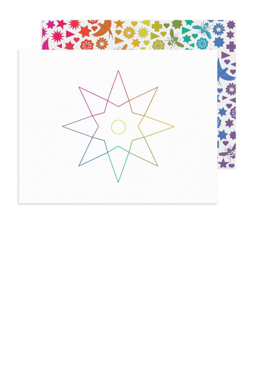 rainbow star linework