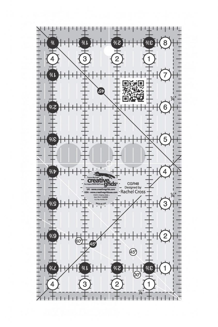 creative grids 4 x 8 ruler