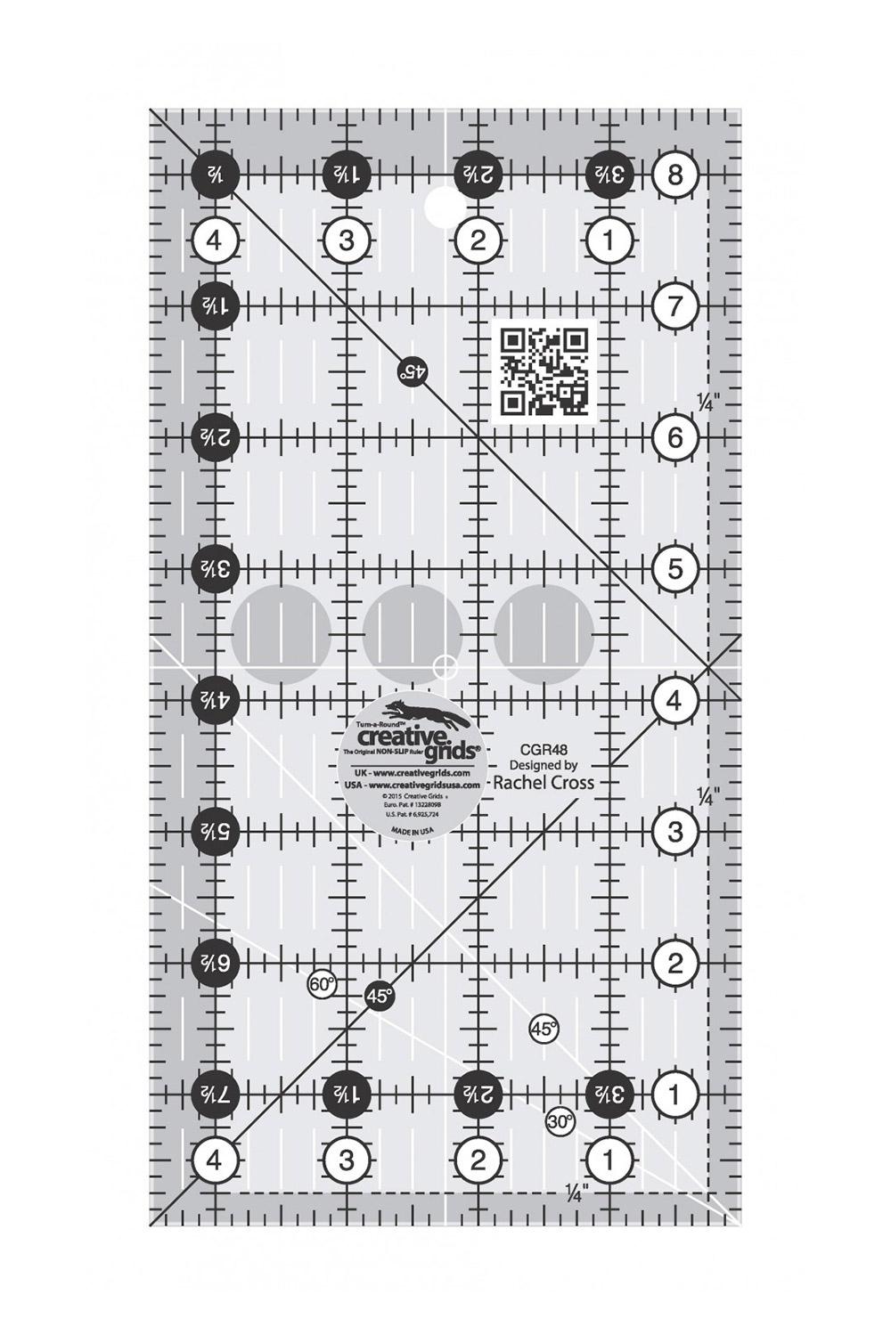 Creative Grids Quilt Ruler 4 1 2 X 8 1 2 Alison Glass