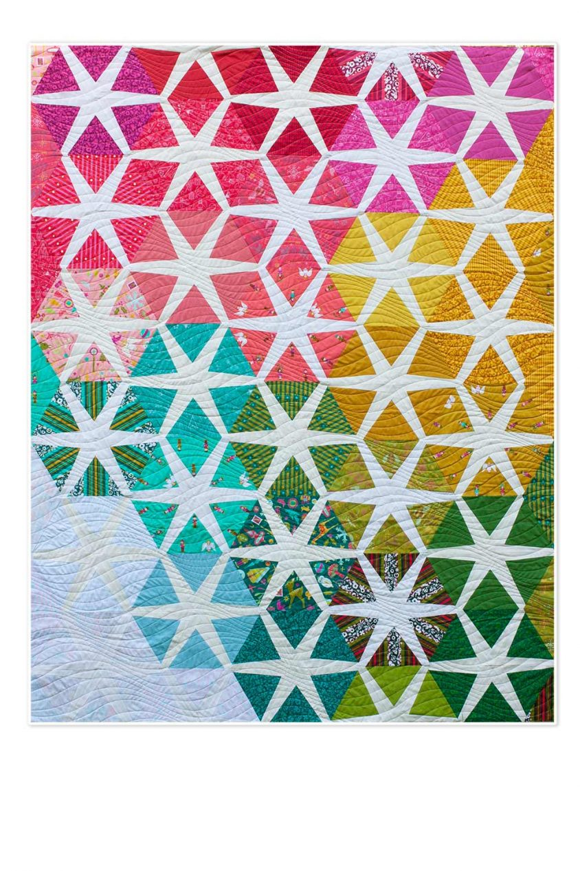 solistice quilt in holiday