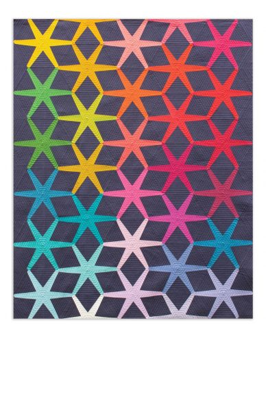 solistice quilt in kaleidoscope