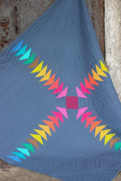 color plus quilt in mariner cloth