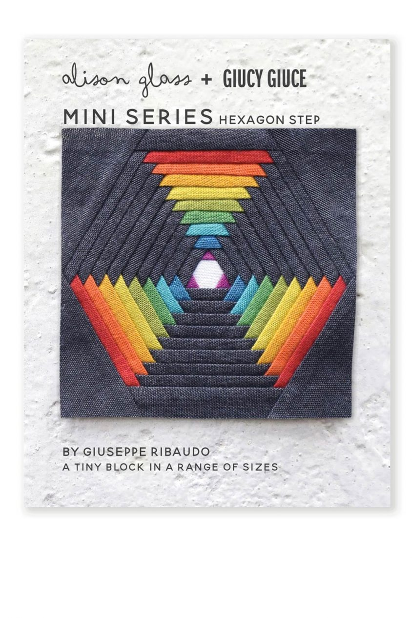 mini series hexagon step quilt pattern