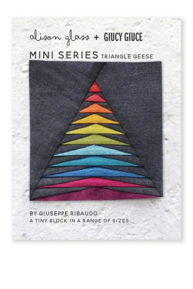 mini series triangle geese quilt pattern