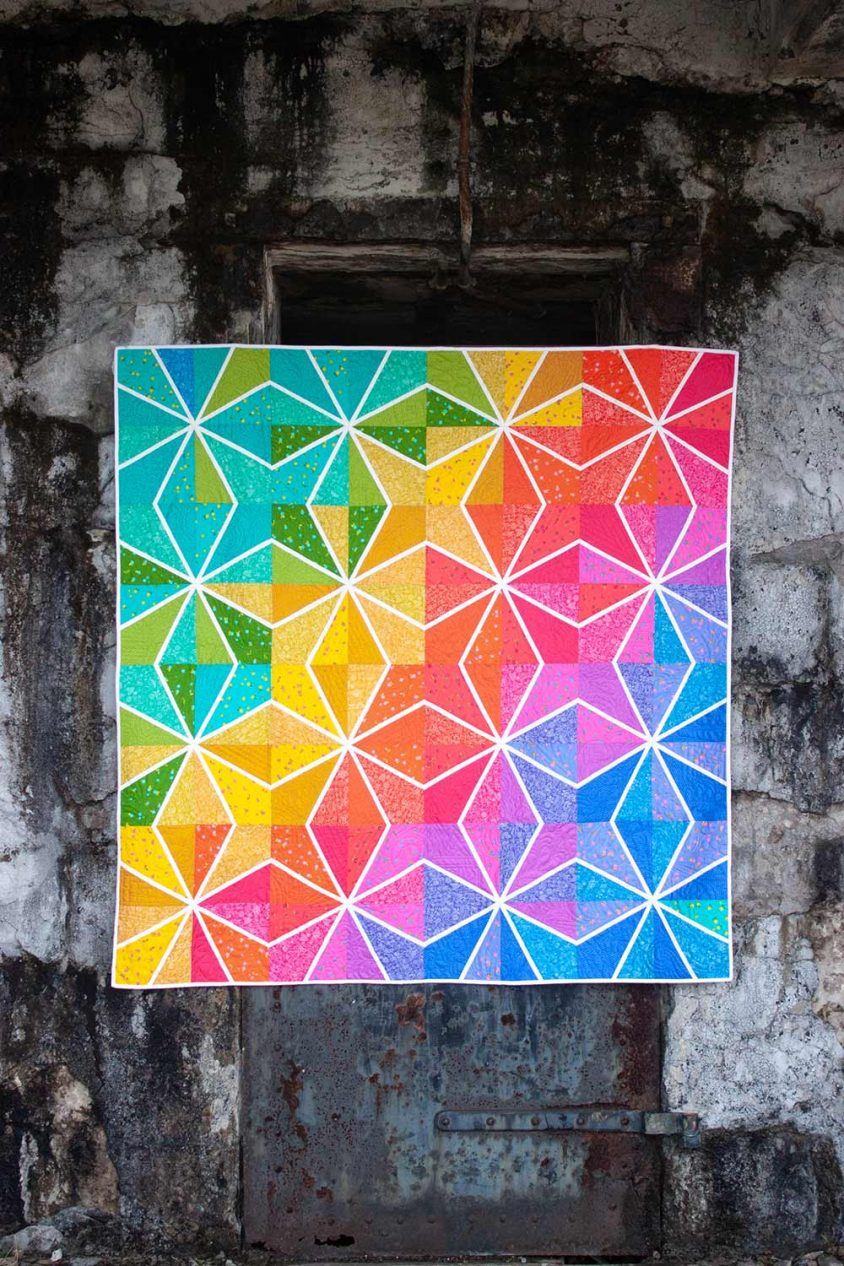 lumen quilt kit in sun print 2019