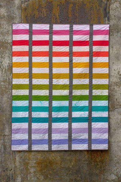 sun print light quilt with andover fabrics