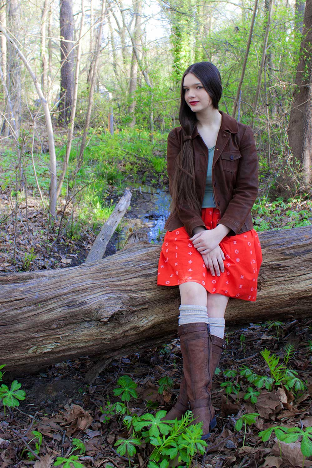 handcrafted patchwork skirt