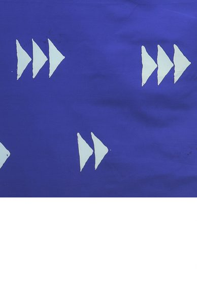 handcrafted indigo flying geese yardage