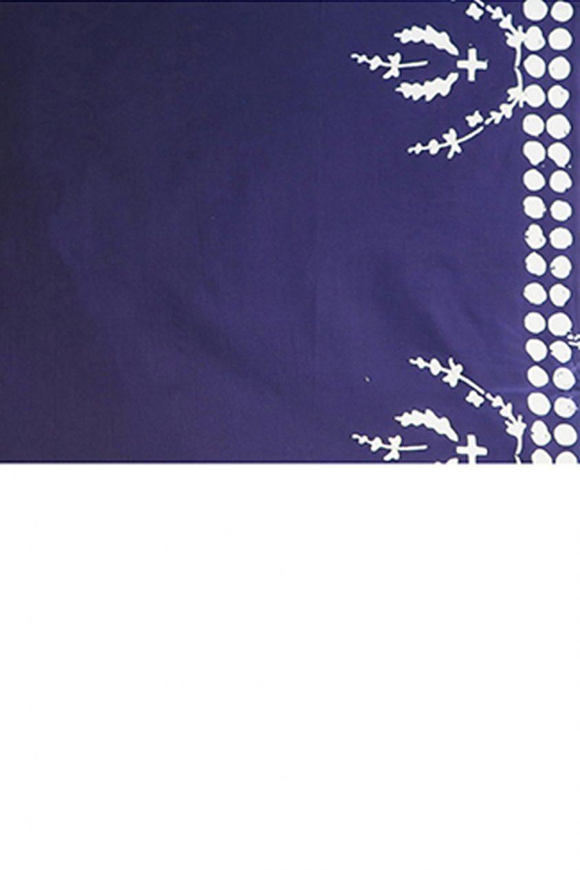 handcrafted indigo in plume yardage