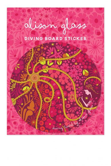 diving board mermaid sticker