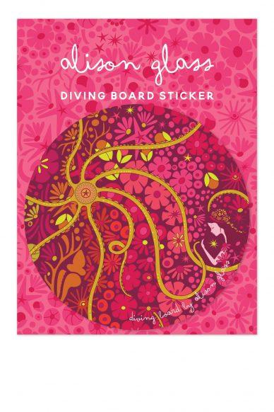 diving board mermaid sticker