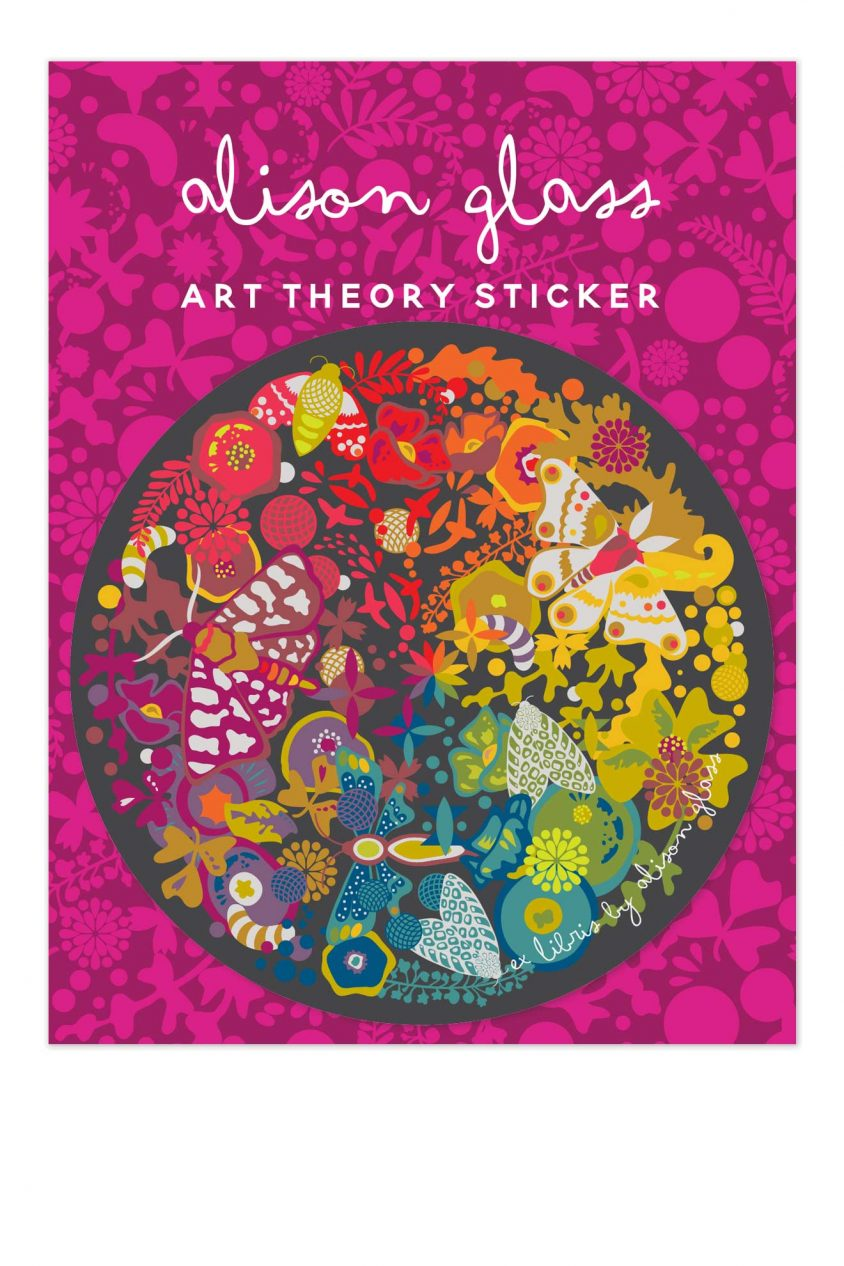 ex libris art theory sticker