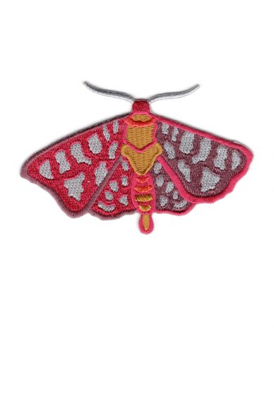 fuschia and marsala moth patch