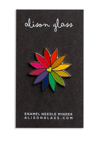 rainbow flower needle minder