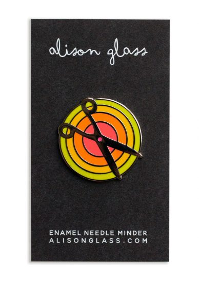 lime scissors needle minder