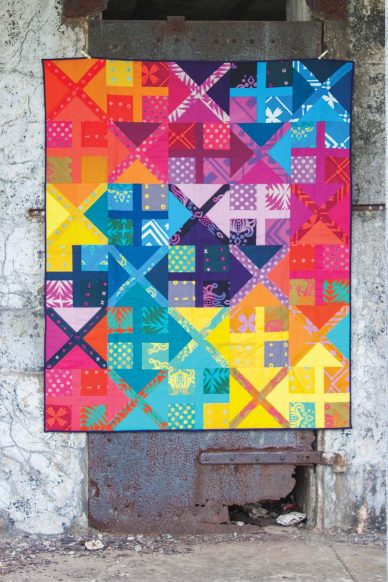 alternative studio quilt in handcraftd patchwork