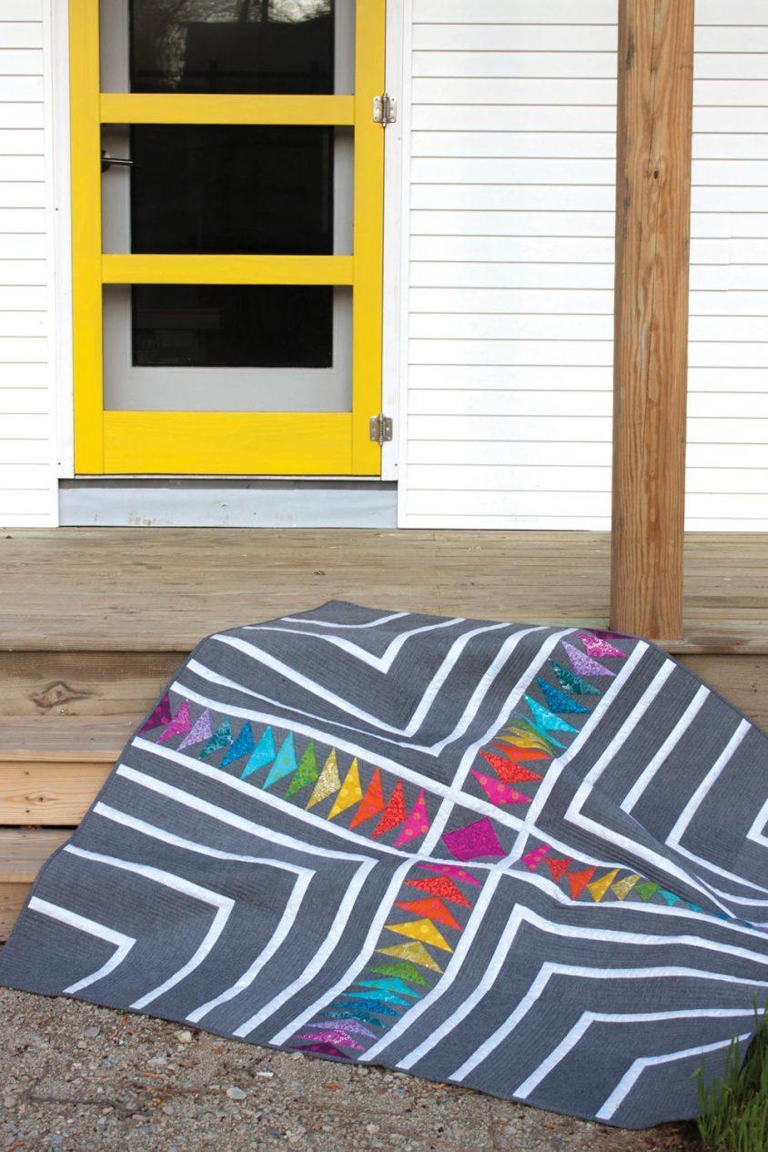 color plus studio quilt in sun print 2016