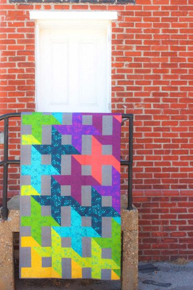 shift quilt in sun print 2015
