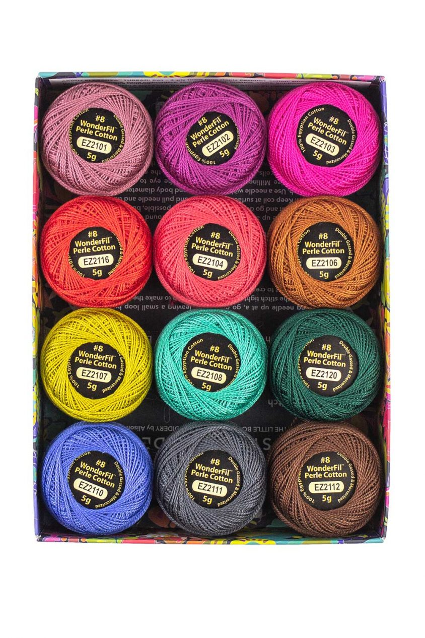 alison glass + wonderfil perle cotton thread box in flora