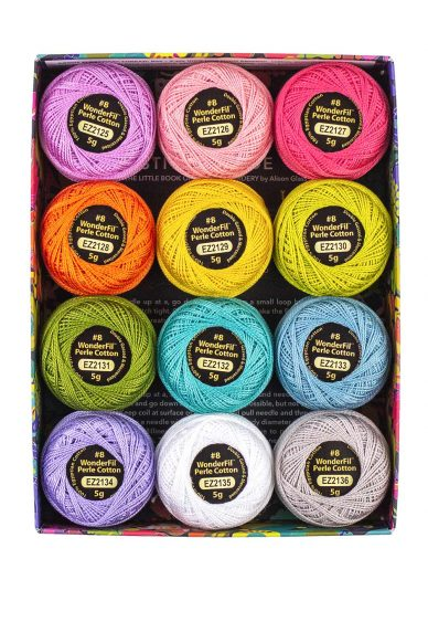 alison glass + wonderfil perle cotton thread box in sun