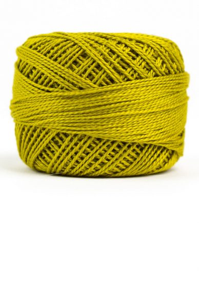 eleganza perle cotton in chartreuse