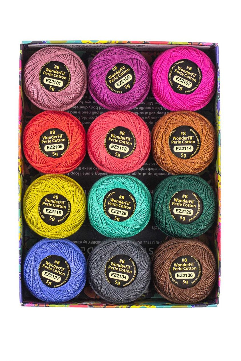 alison glass + wonderfil perle cotton thread box in flora
