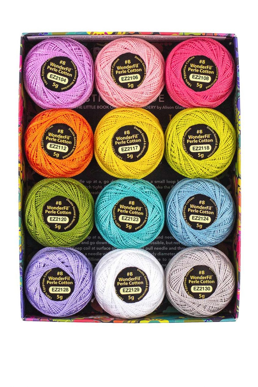 alison glass + wonderfil perle cotton thread box in sun