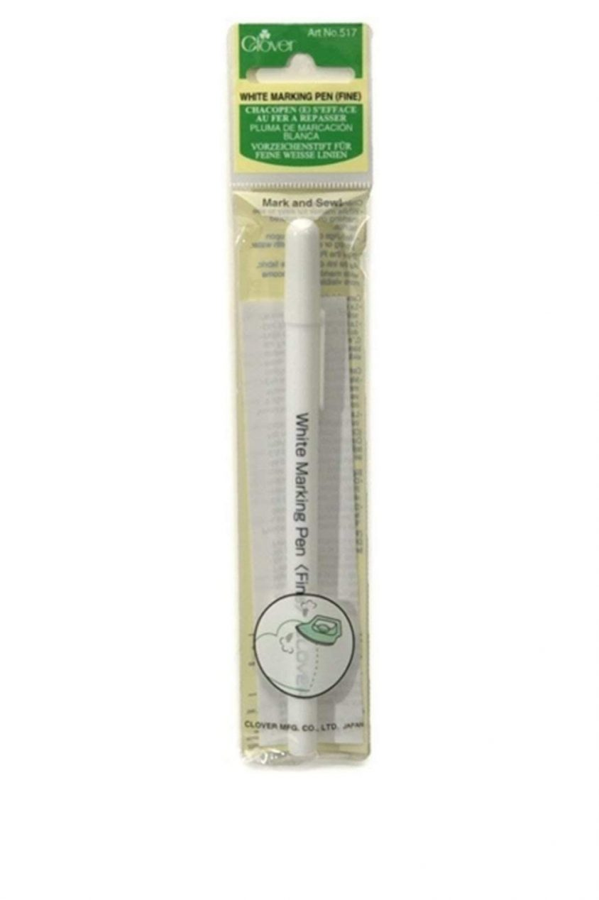 clover white water soluble marking pen