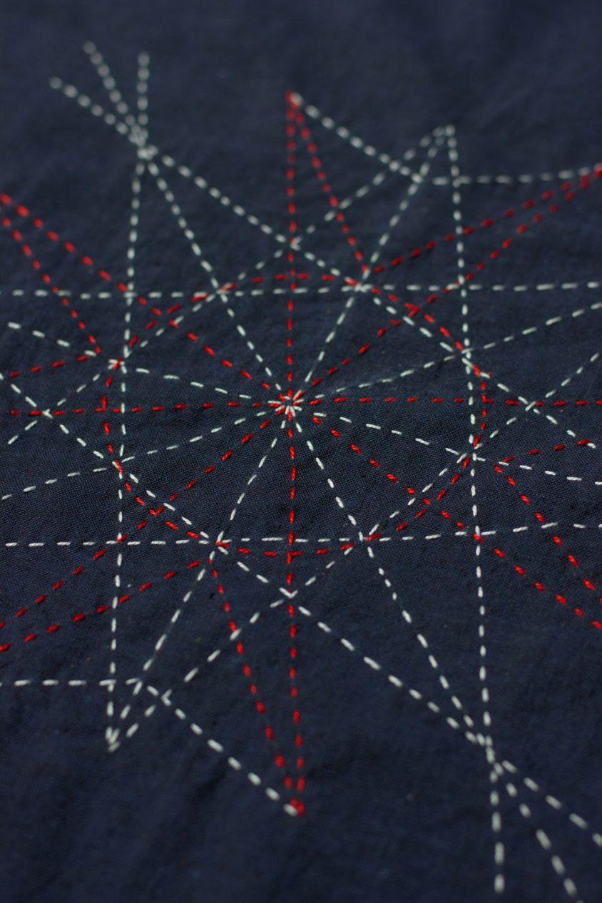 kaleidoscope in iris yardage for sashiko
