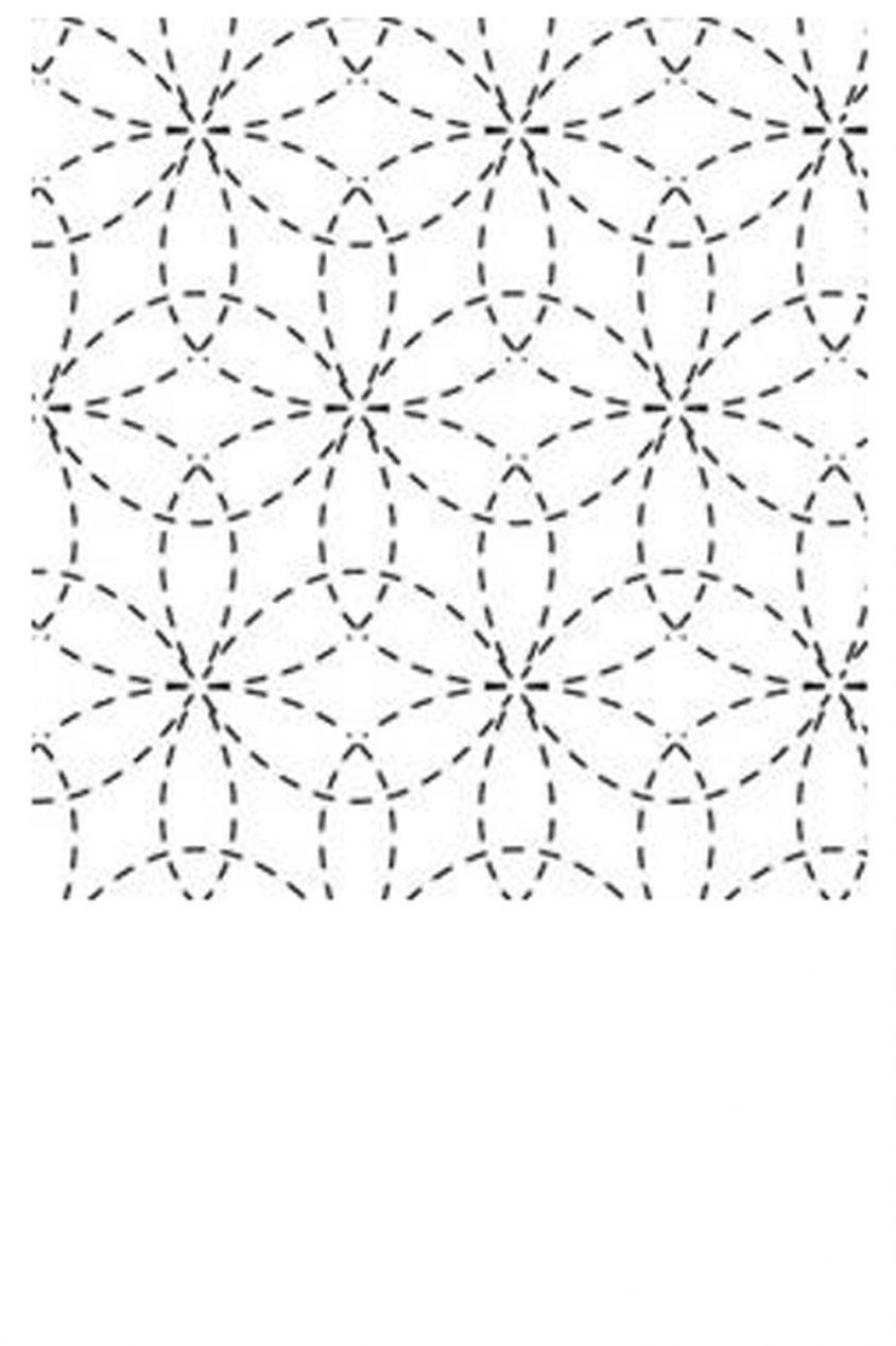 sashiko sampler cloth in hana zashi design