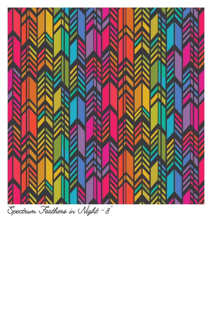 art theory spectrum feathers in night yardage