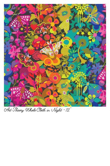 art theory whole cloth in night yardage