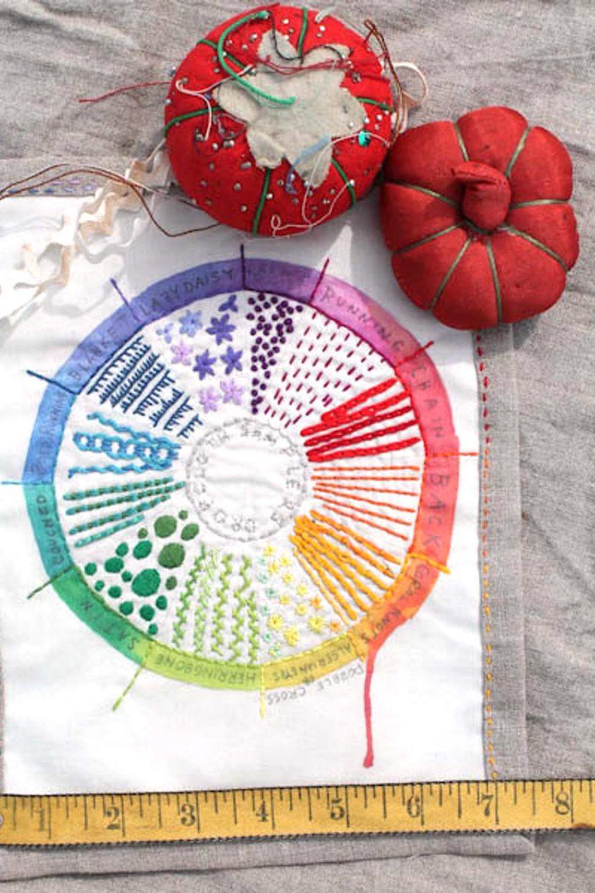 drop cloth color wheel sampler