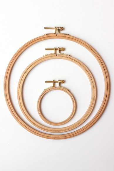 beech embroidery hoops