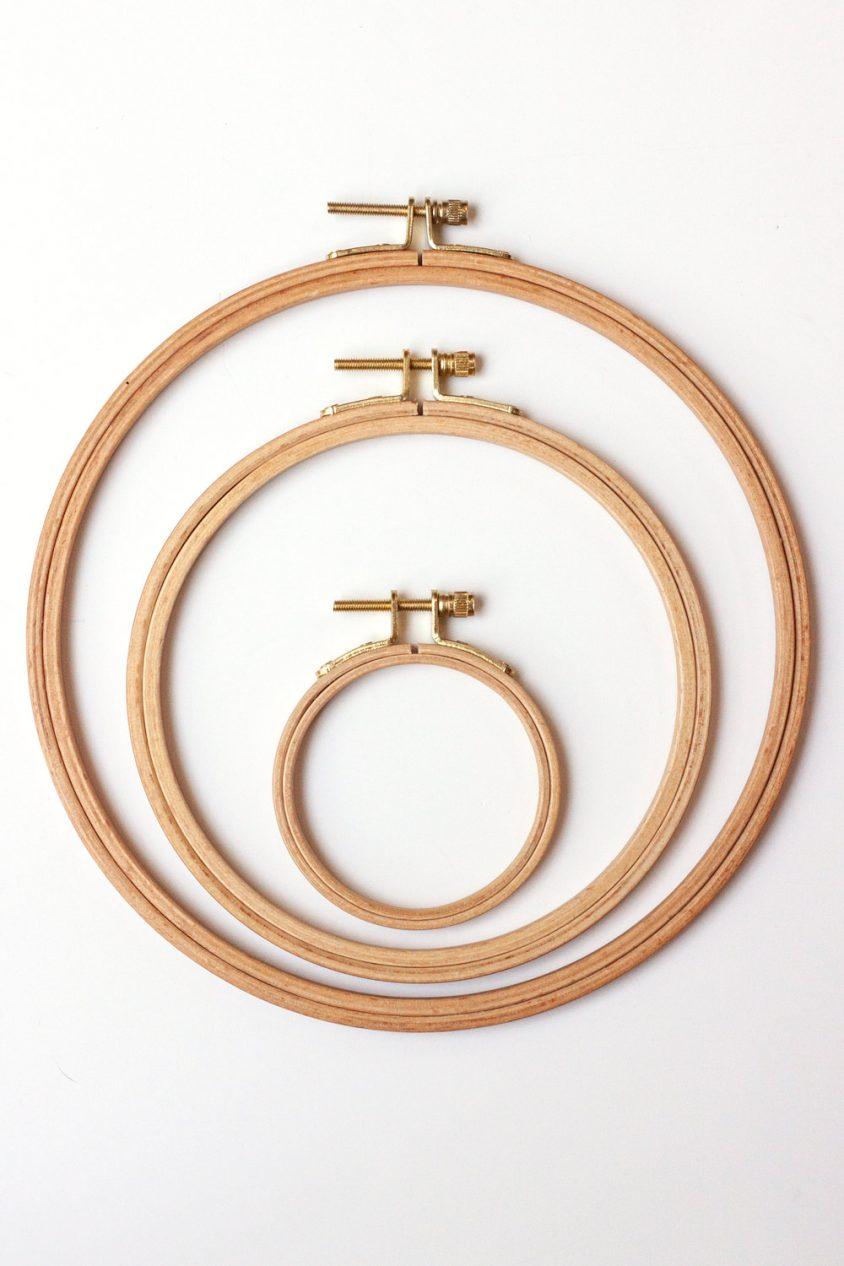 beech embroidery hoops